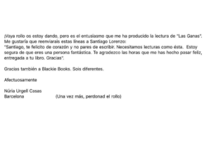 Dedicatoria Blackie Books